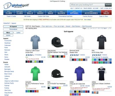 Golf Apparel, Golf Shirts and Clothing - Nike, Adidas, Callaway and More at Global Golf